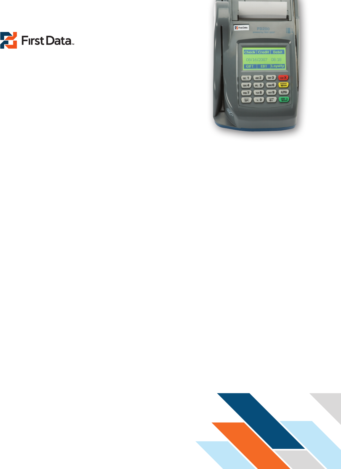 First Data FD200 Credit Card Terminal Fact Sheet