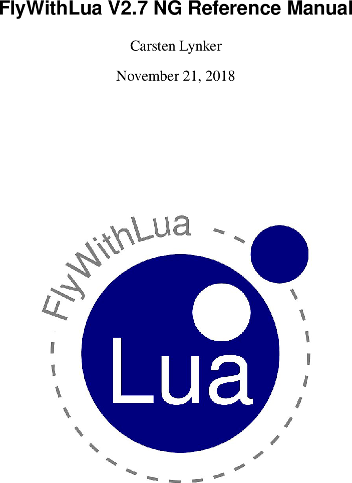 FlyWithLua Quick Reference Manual Fly With Lua En