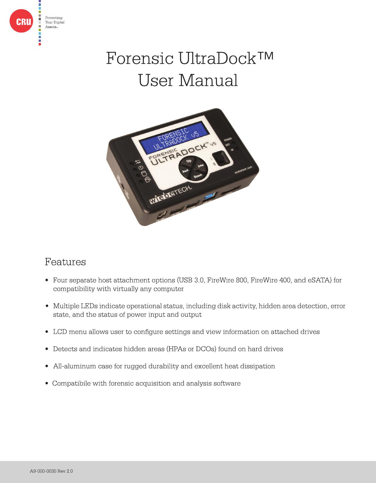 Forensic Ultra Dock V5 User Manual