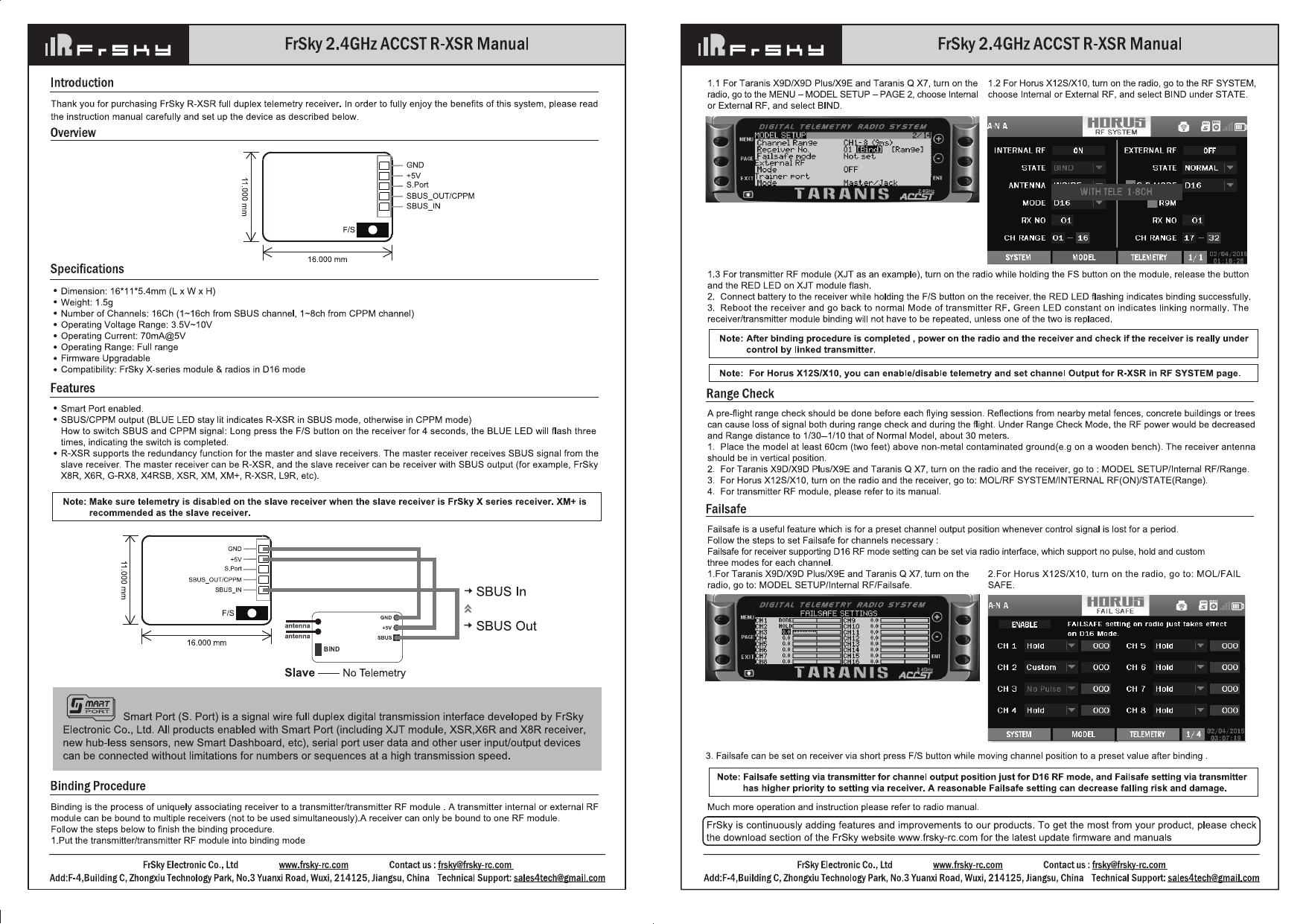 Frsky R Xsr Manual Guide