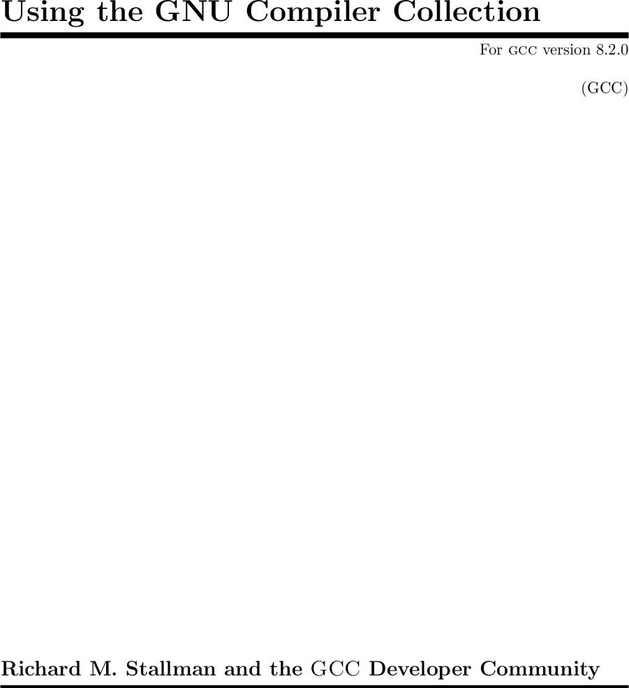 GCC 8 2 Manual