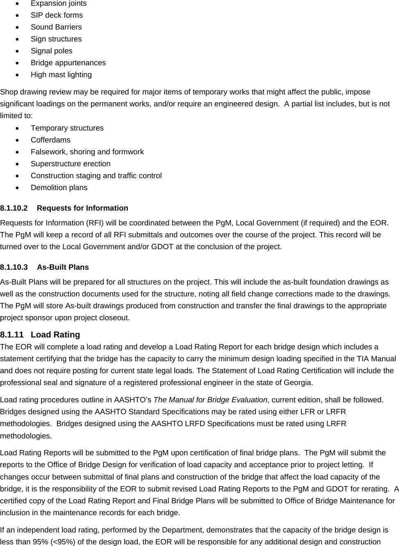GDOT Chapter 8 TIA Manual Addendum Bridge 2013 10 21x 21