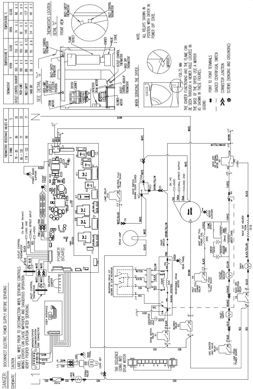 Ory Logic Diagram Continued Schematics General Electric Clothes Dryer Dpvh890 Ge Profile Dpvh880ej Gj Control