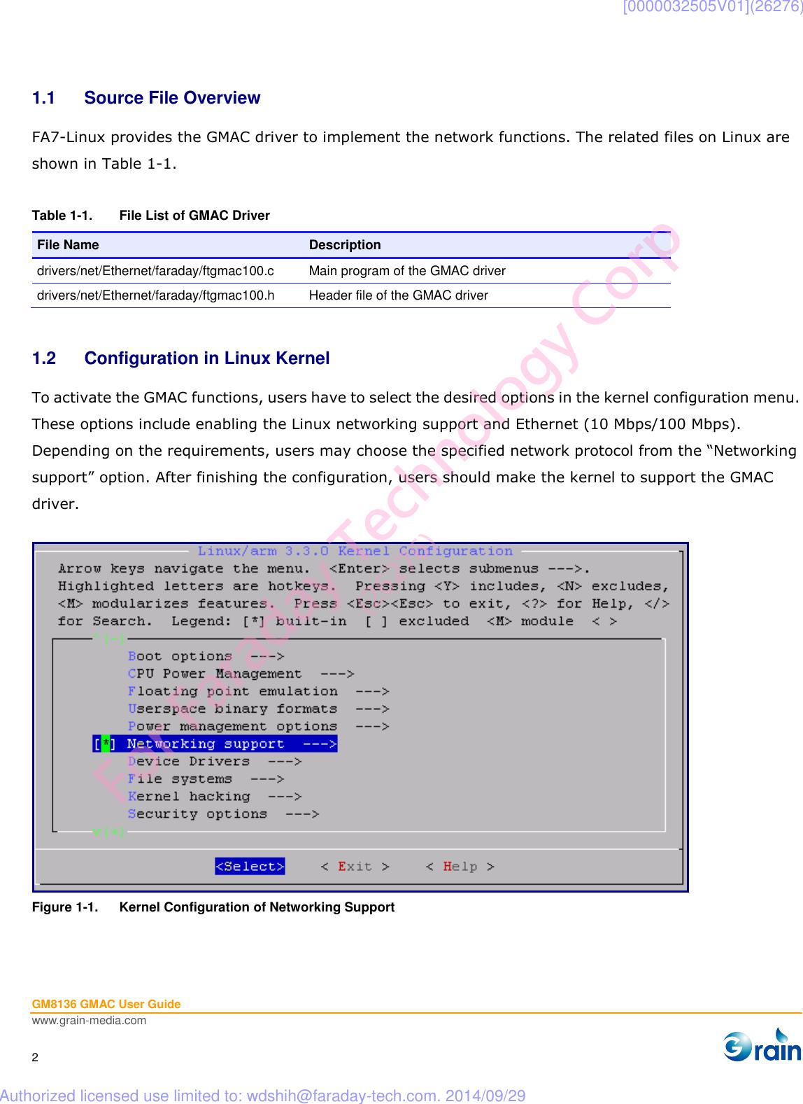 Description GM8136 GMAC User Guide V1 0
