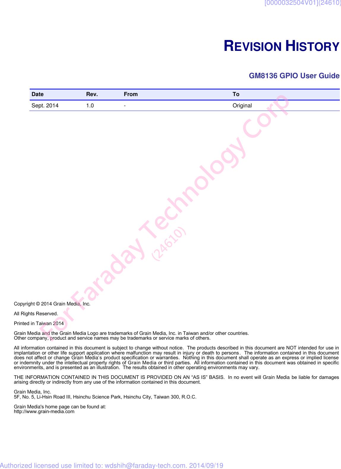 Description GM8136 GPIO User Guide V1 0
