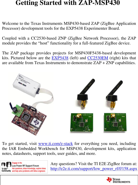 Rf Development Kit For Msp430