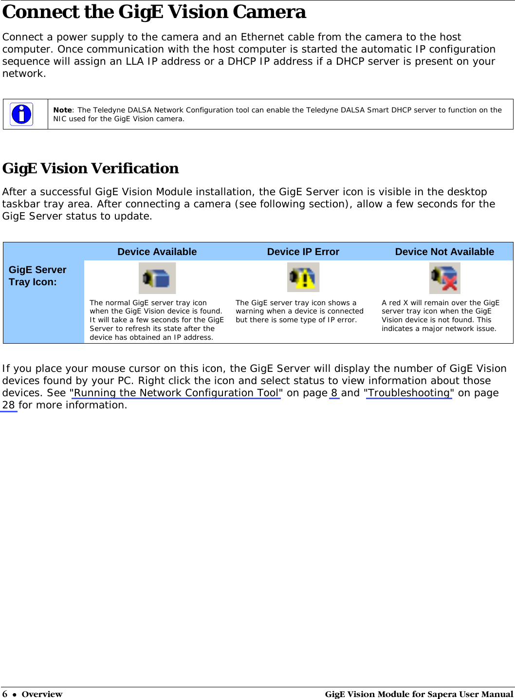 GigE Vision Module For Sapera User Manual Gig EVision