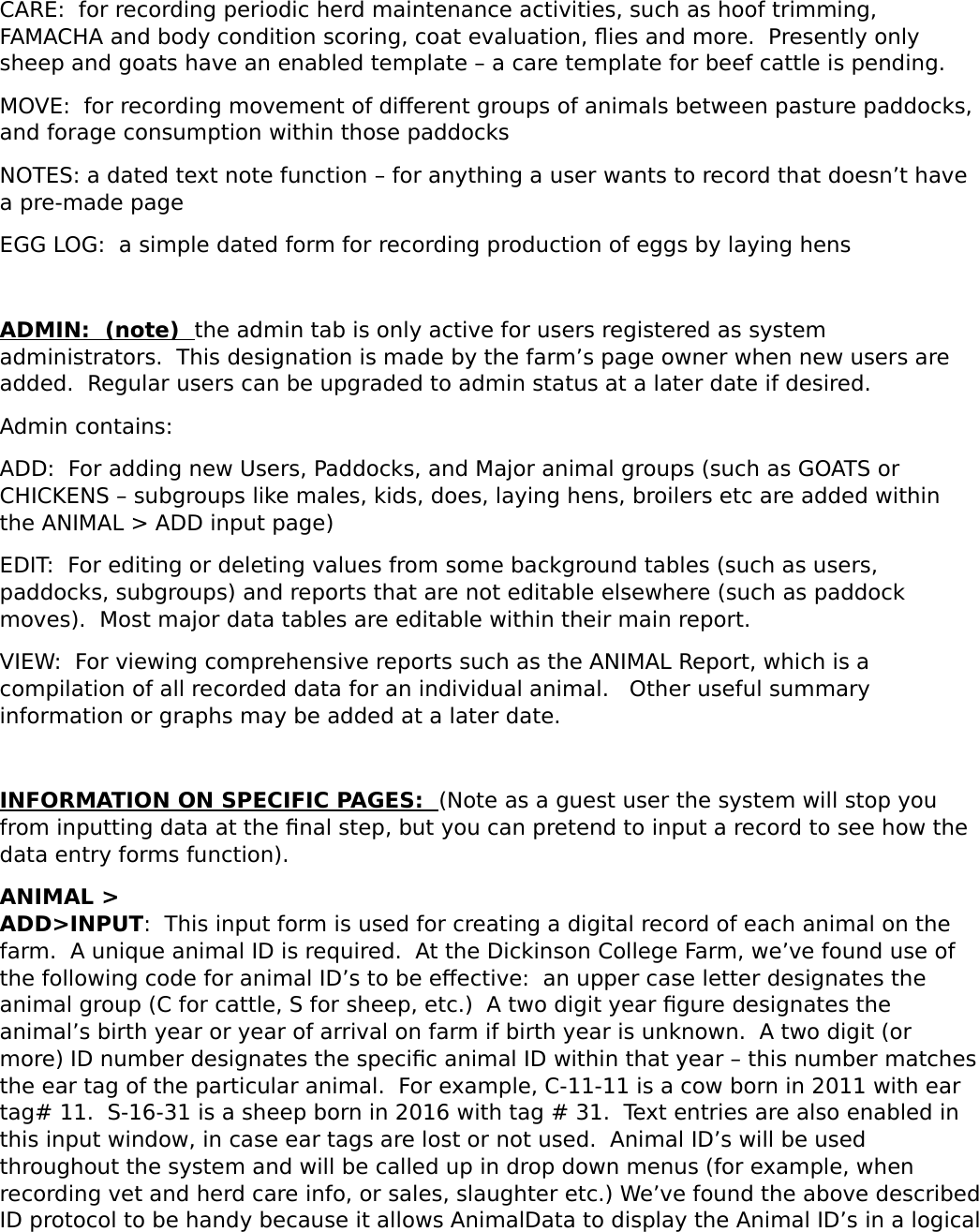 Guest Users Guide Animal Data V0 1