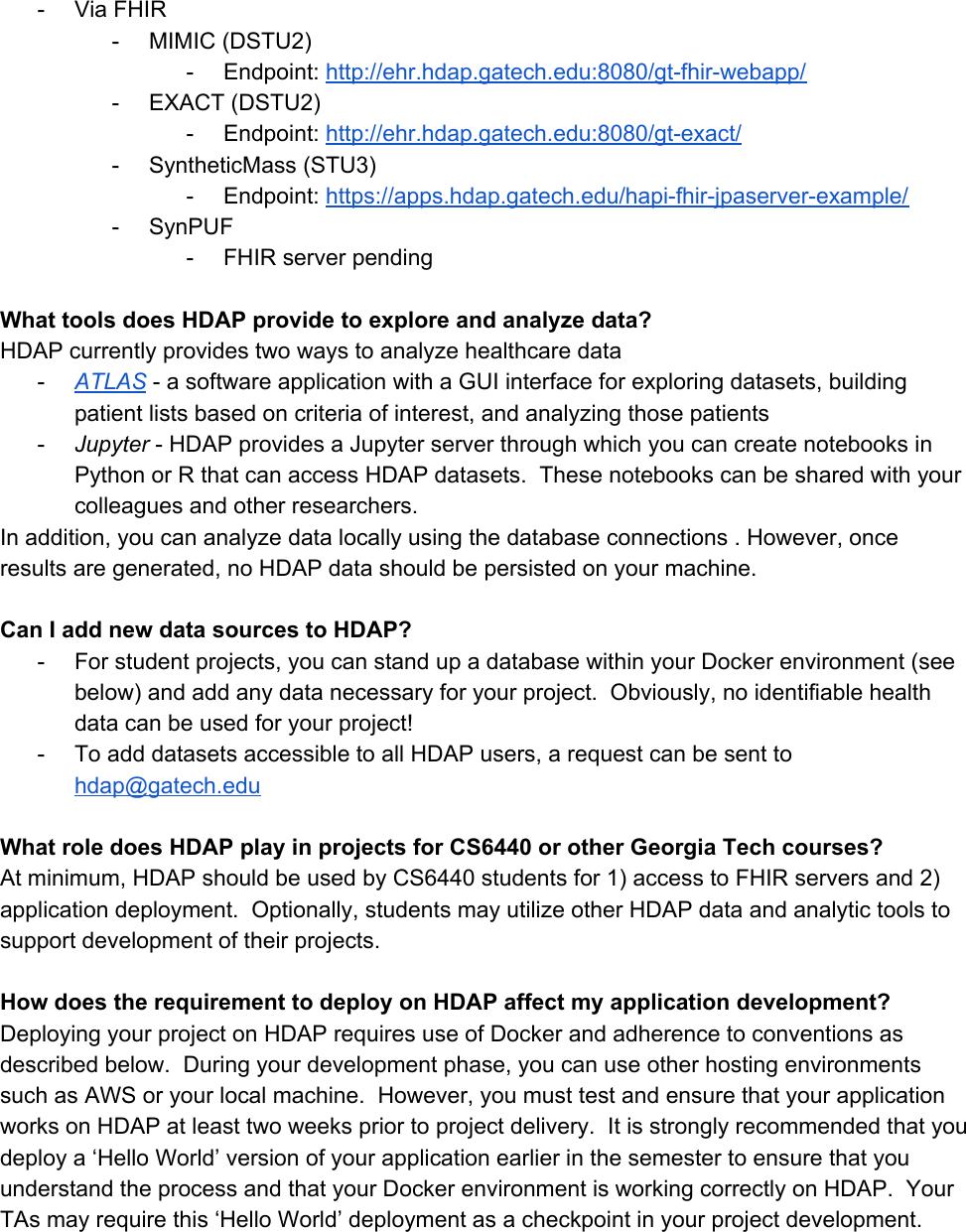 HDAP Guide