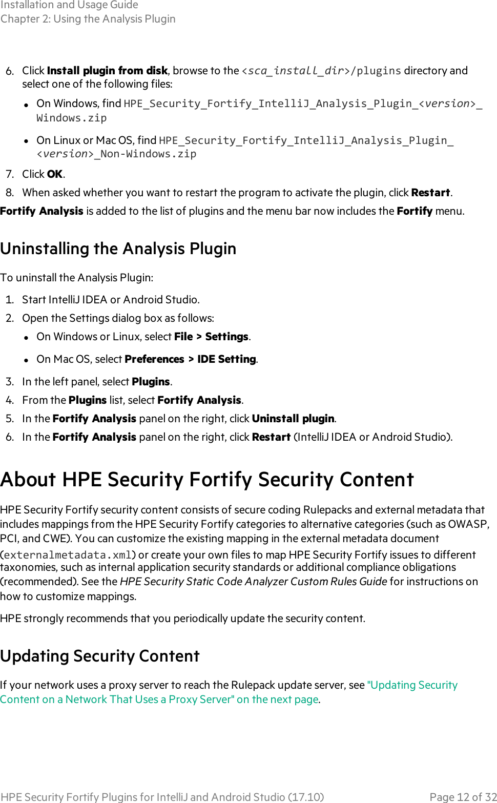 HPE Security Fortify Plugins For IntelliJ And Android Studio