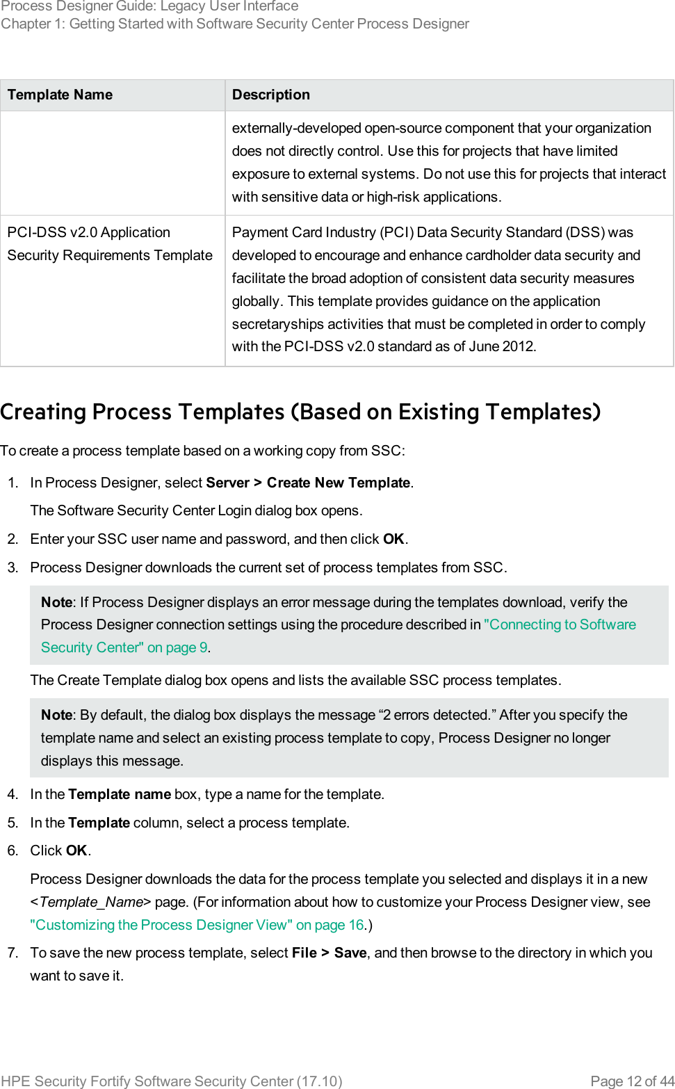 HPE Security Fortify Software Center Process Designer Guide