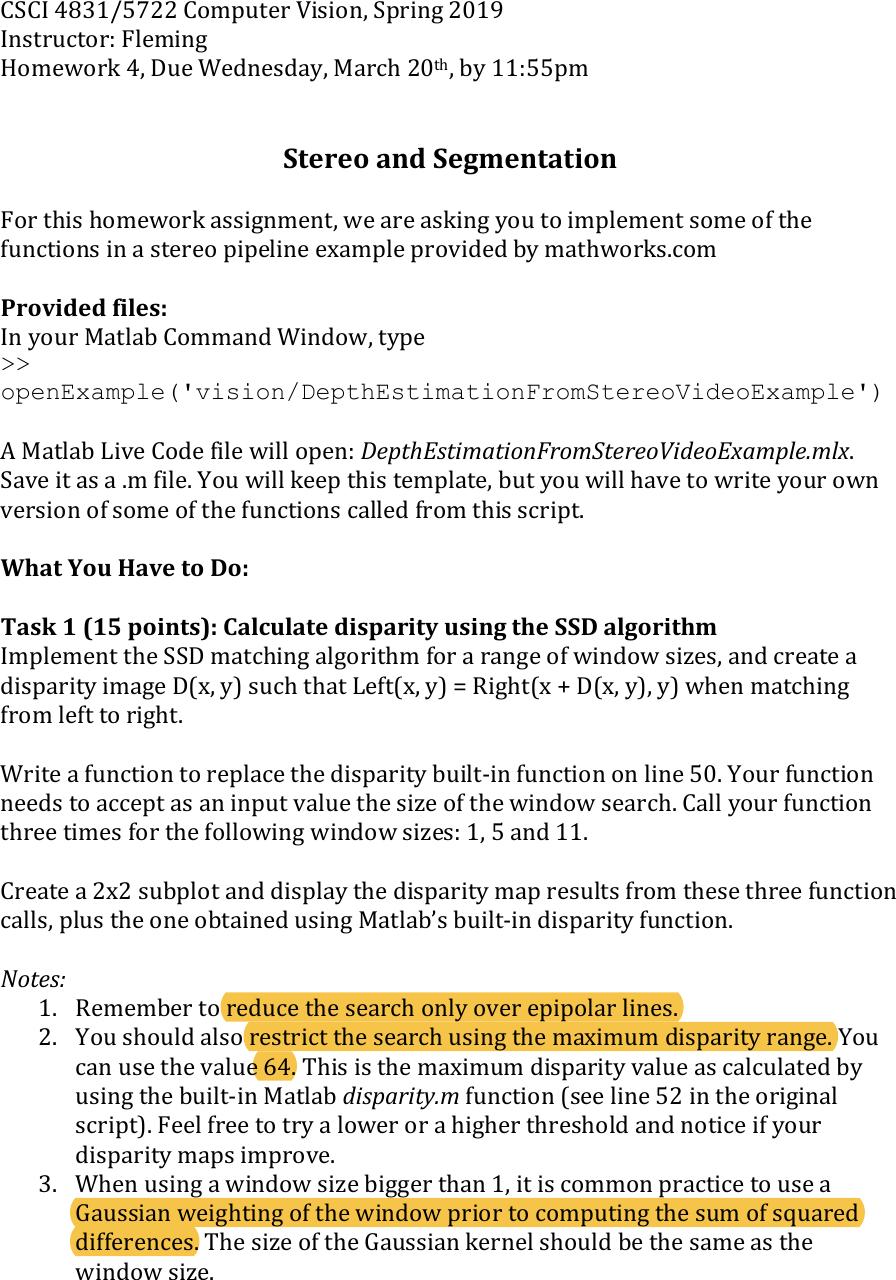HW4 Instructions