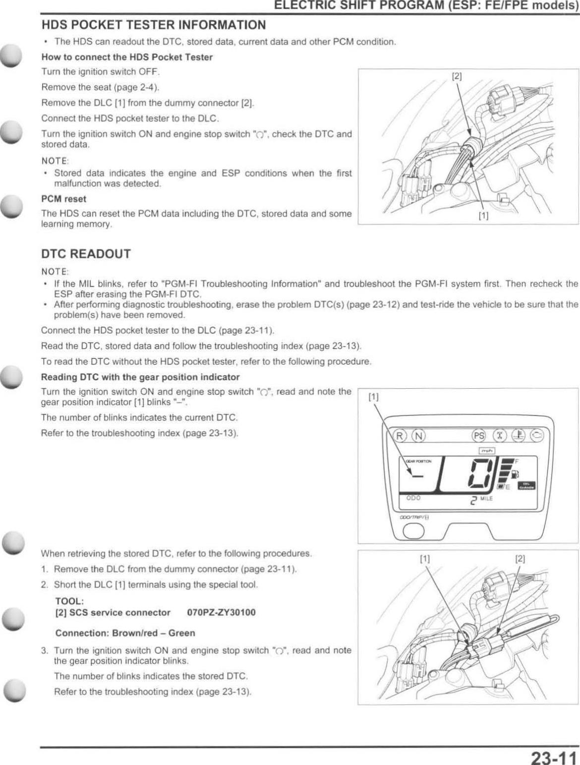 Honda Rubicon Transmission Reset