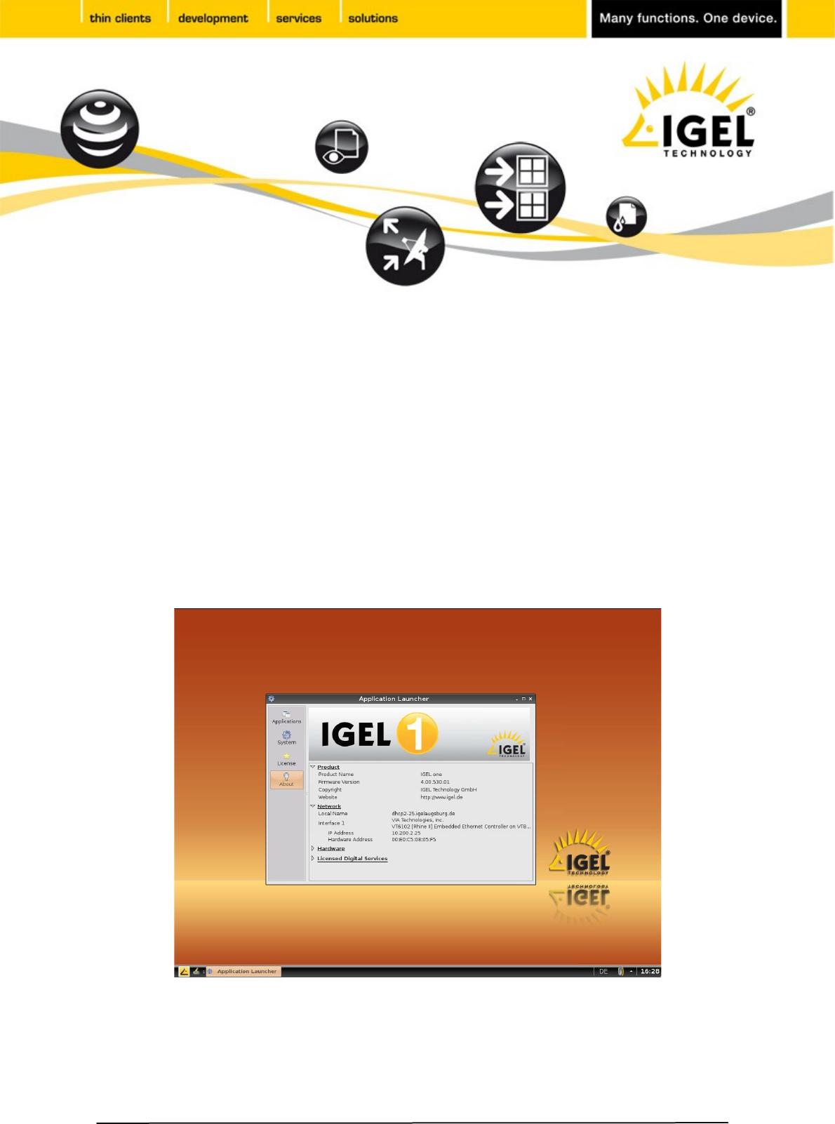 IGEL Universal Desktop Linux User Guide ONE INITIAL SETUP_EN SETUP EN