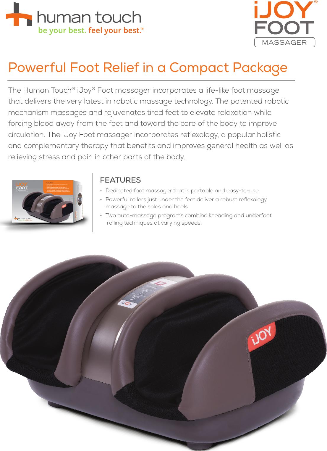 Kneading /& Rolling iJoy Reflexology Foot /& Underfoot Massager