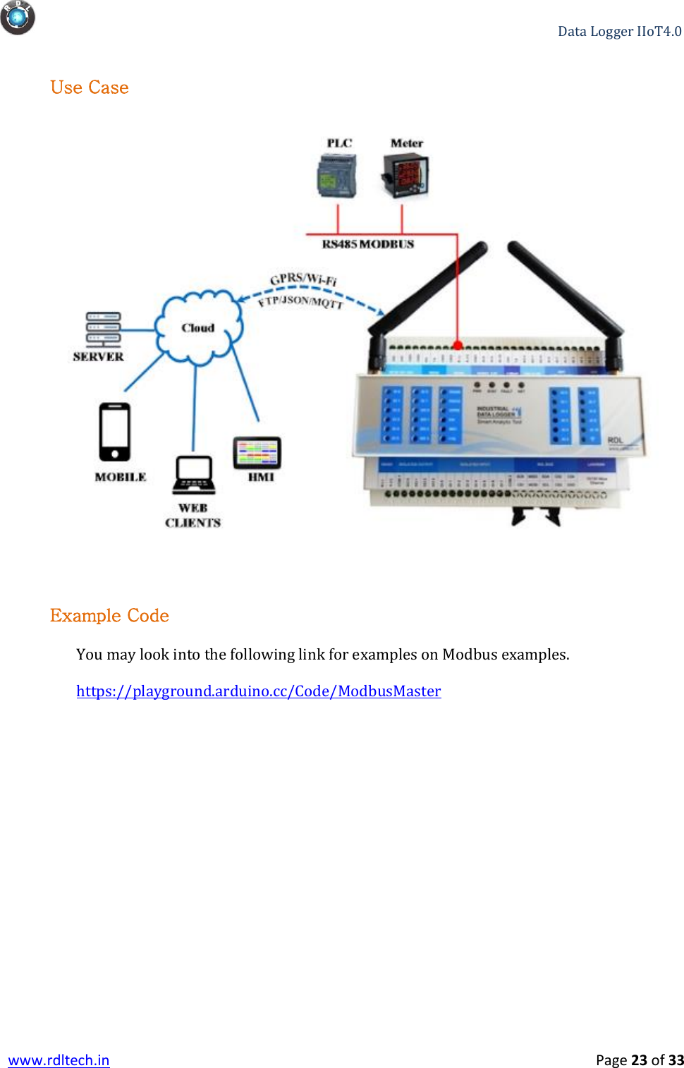 Industrial Data Logger IIo T User Manual