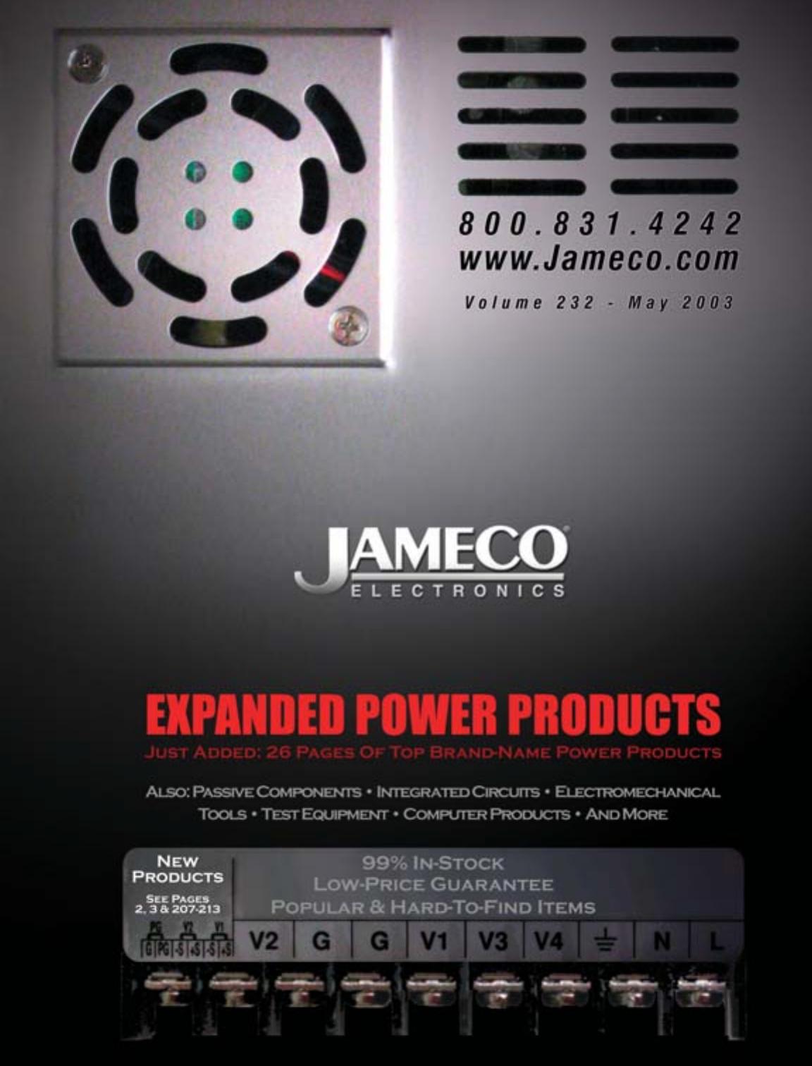 Front Cover Main Jameco Catalog V232 May 2003 Pwm Motor Control Circuit 1n5818circuit Diagram World