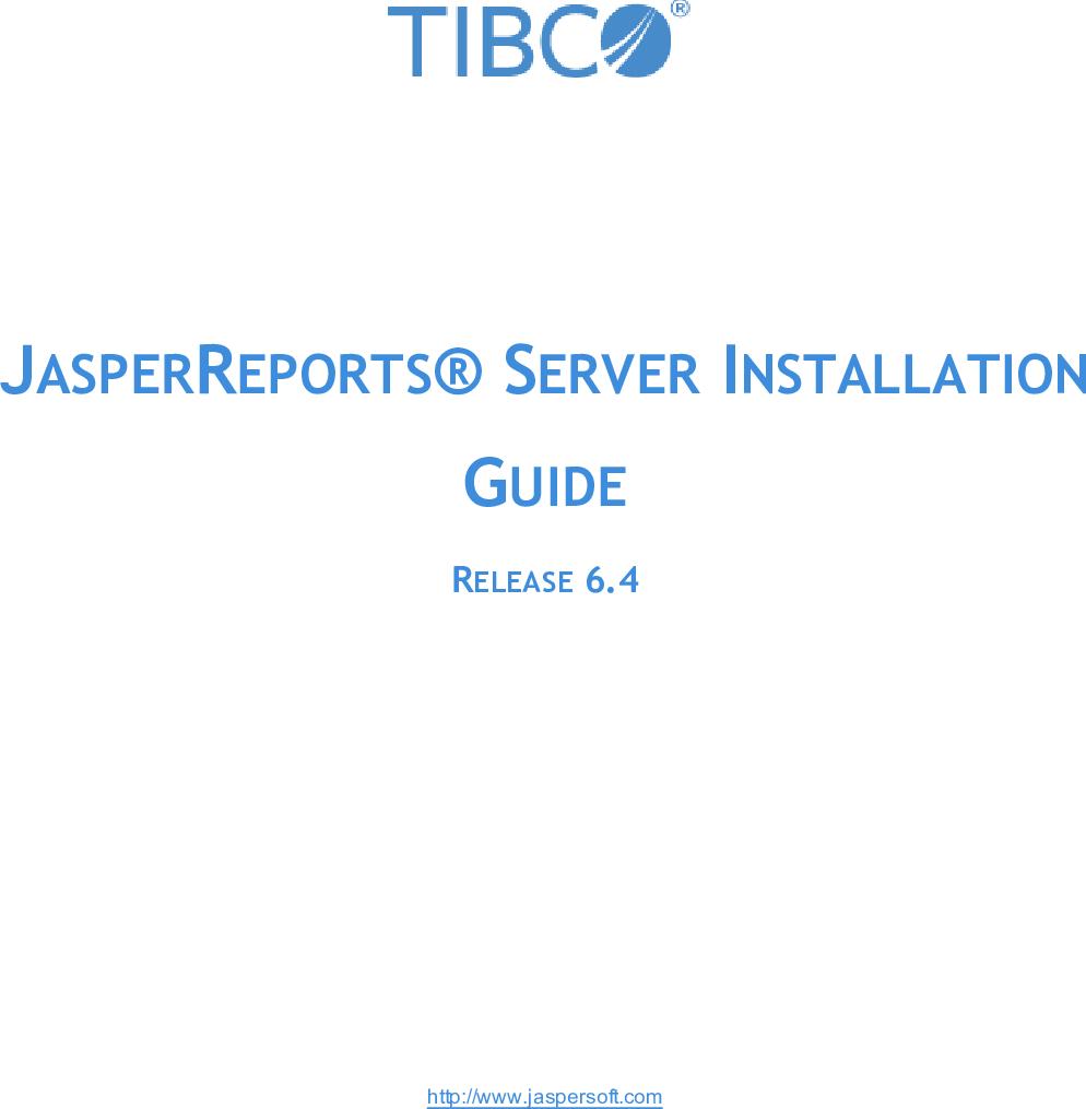 Screenshot van TIBCO JasperReports Server software.