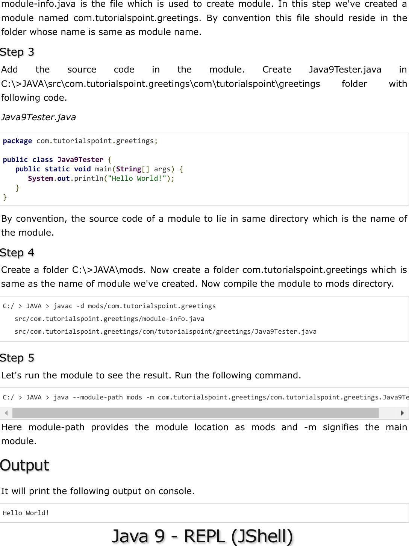 Java 9 Quick Guide