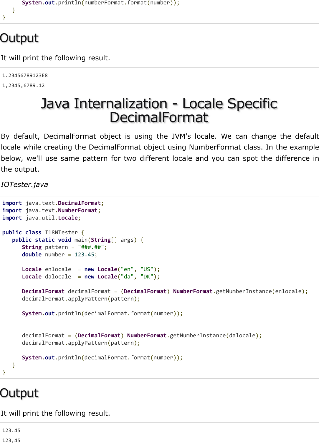 Java Internalization Quick Guide
