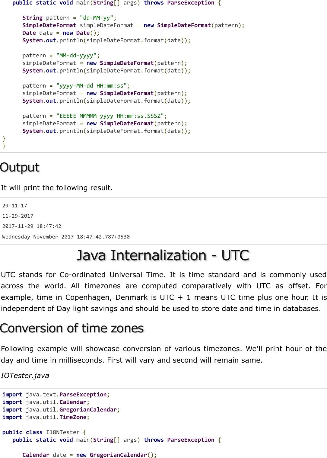 Java Internalization Quick Guide