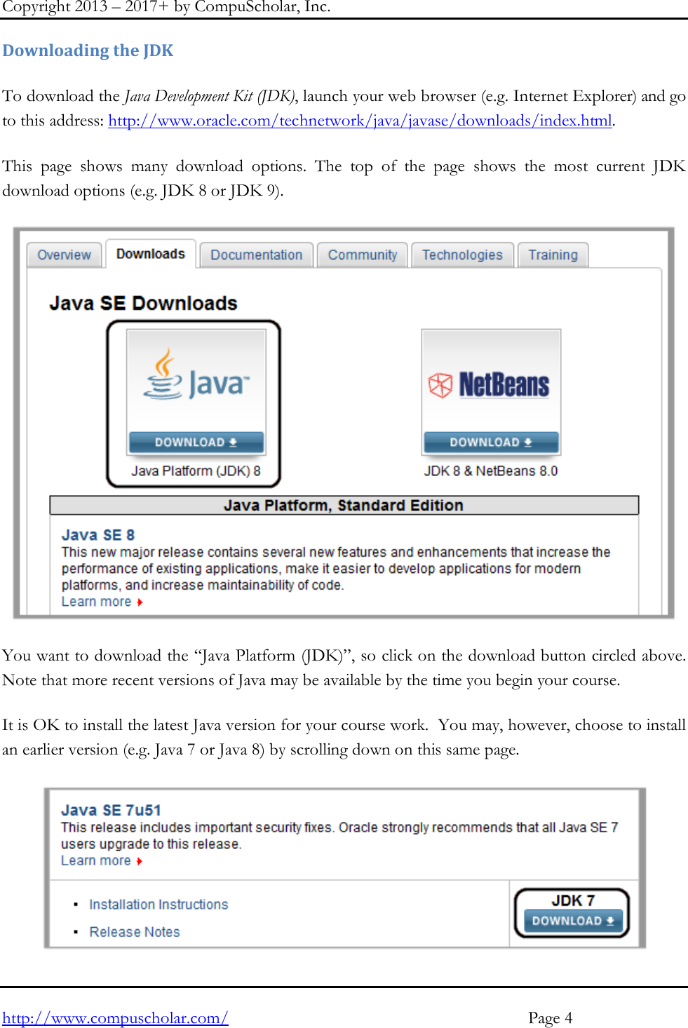 Java JDK Install Instructions Windows