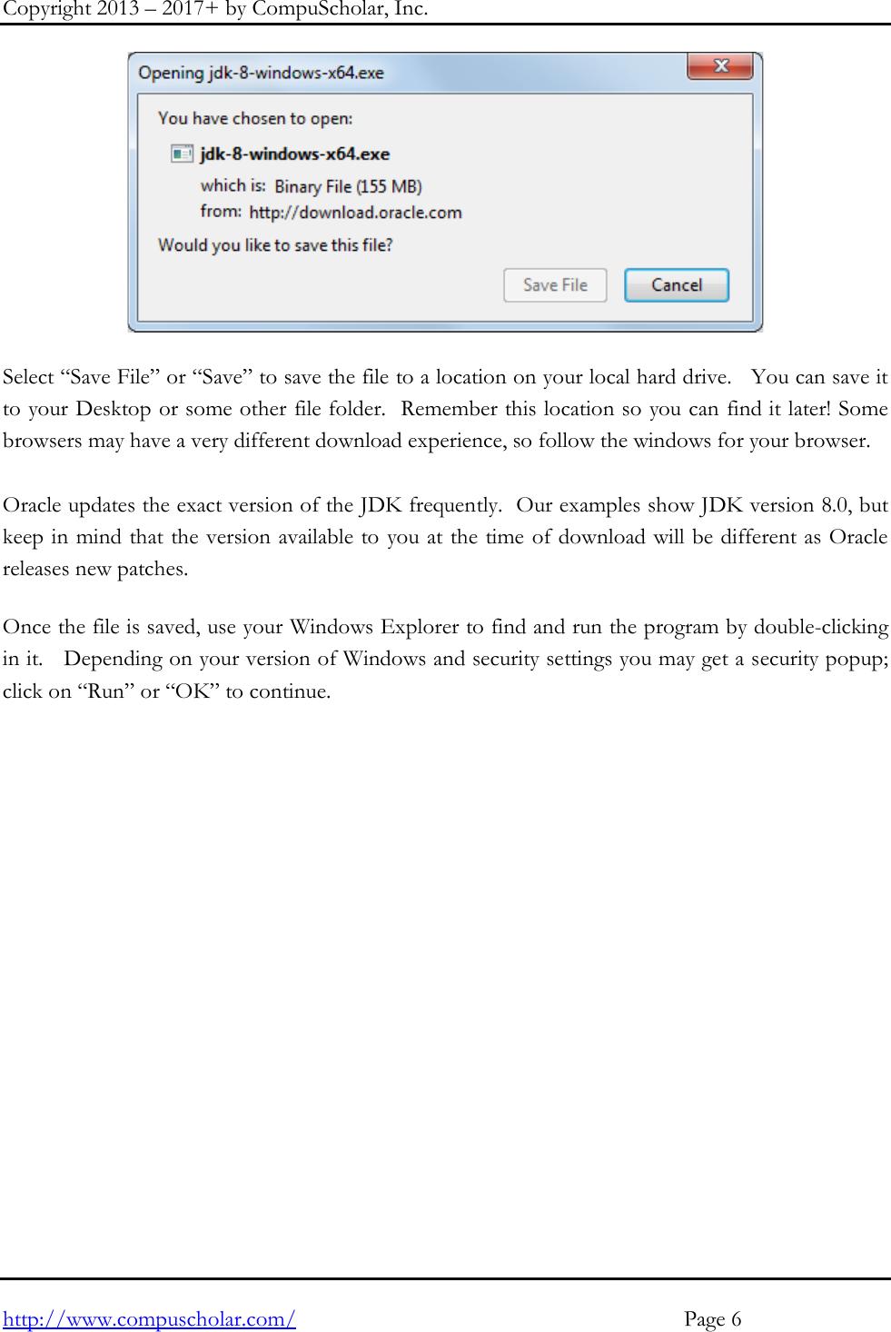 Java JDK Install Instructions Windows