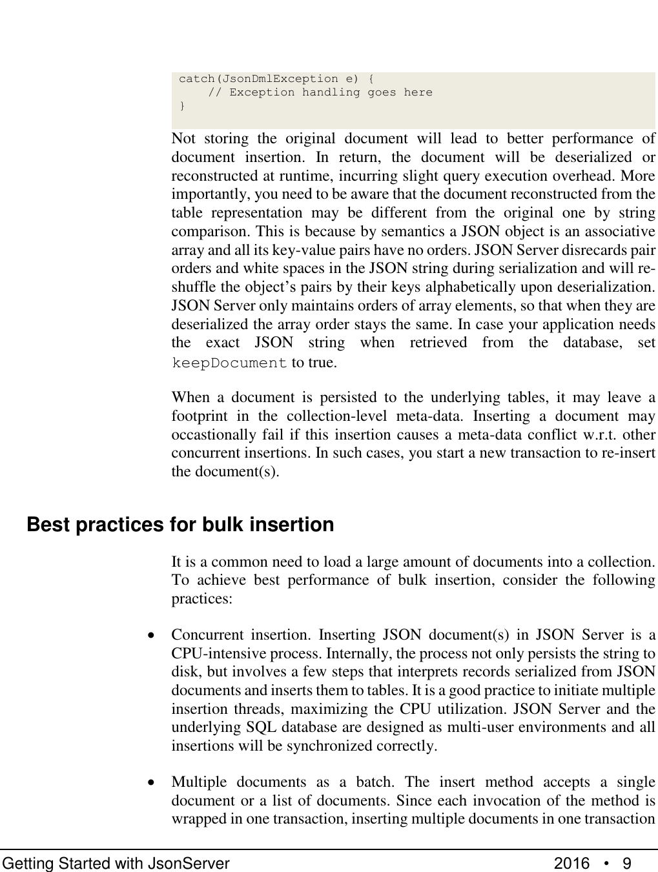Module Json Server User Manual