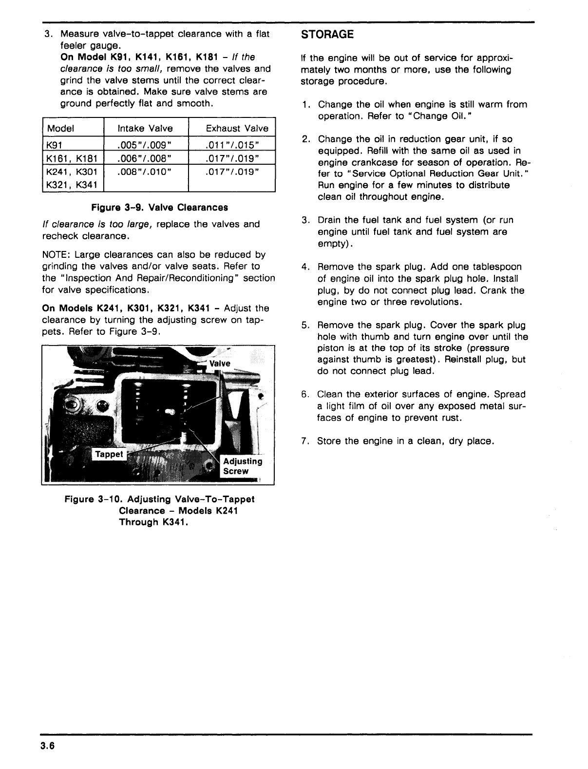 kohler single cylinder engine k91 k141 k161 k181 k241 k301 k321 k341 service manual