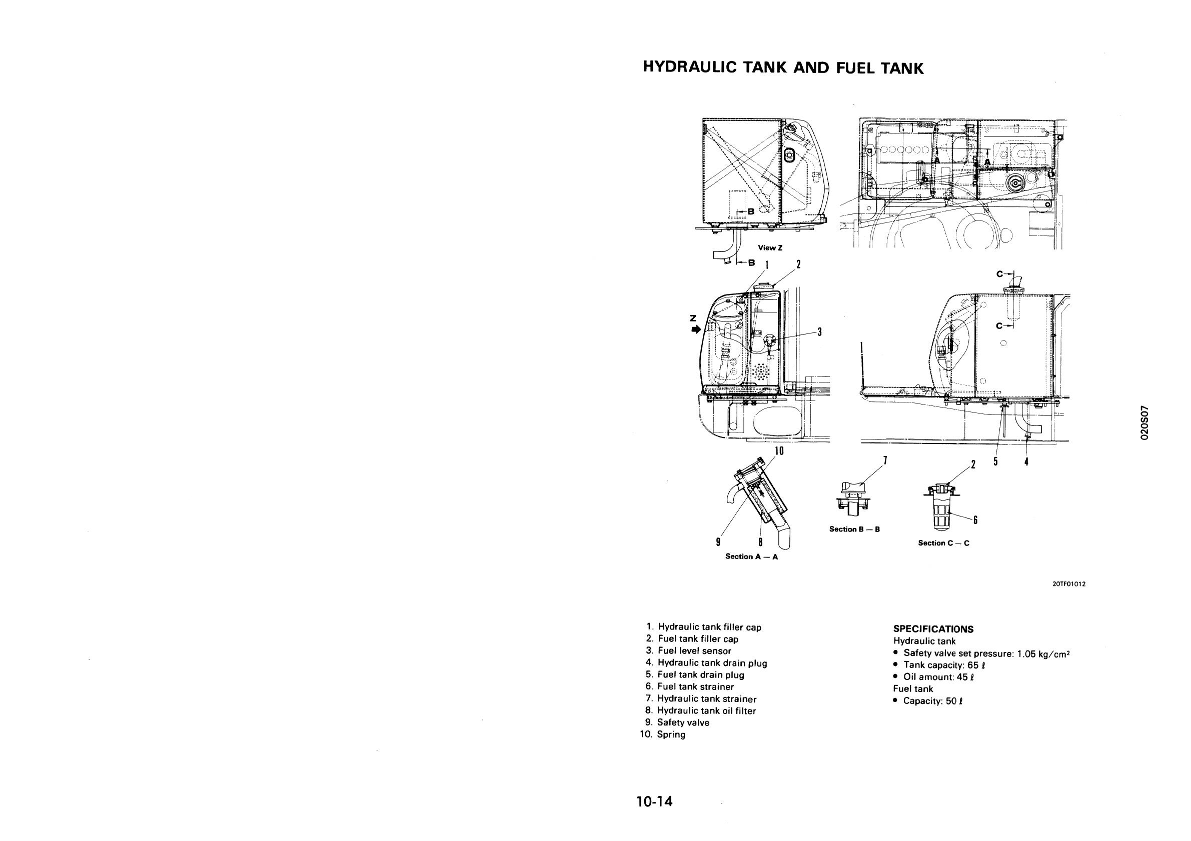 Sebd020s0707 Pc25 1 Pc30 7 Pc40 Pc45 Hydraulic Excavator Fuel Level Gauge Schematic 20