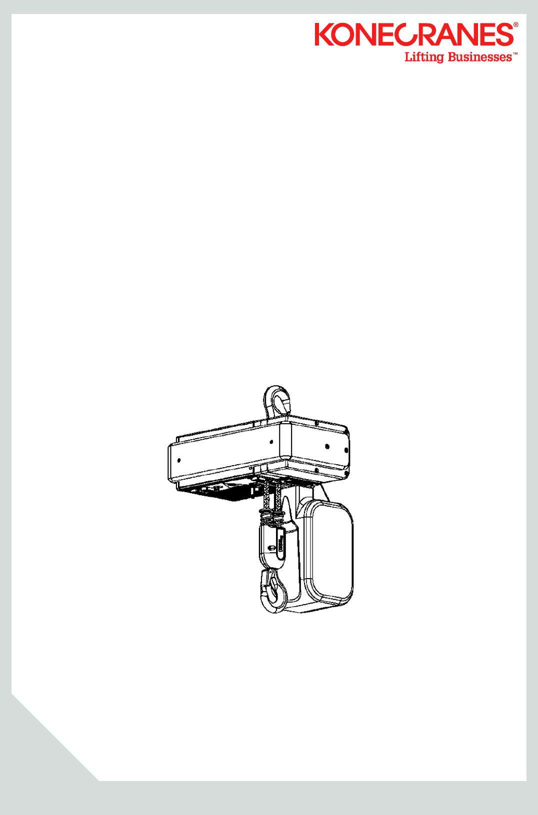 XN10 I&M MANUAL 2010 0 Kone Cranes Hoist Kone Hoist Wiring Diagram on