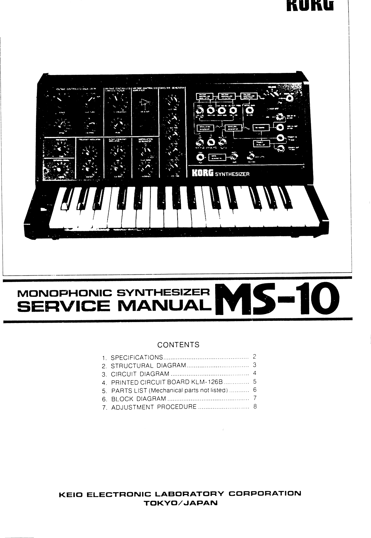 Korg Ms 10 Service Manual Ms10 Electronic Keyboard Circuit Diagram