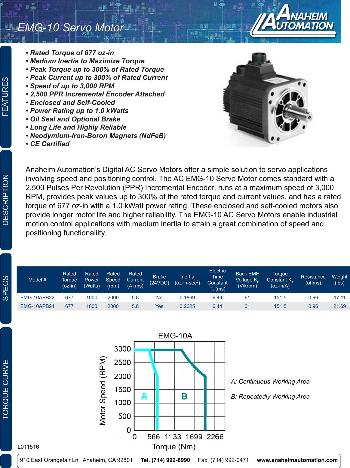 L011516 Emg 10apb Servo Motor Iid Wiring Diagram