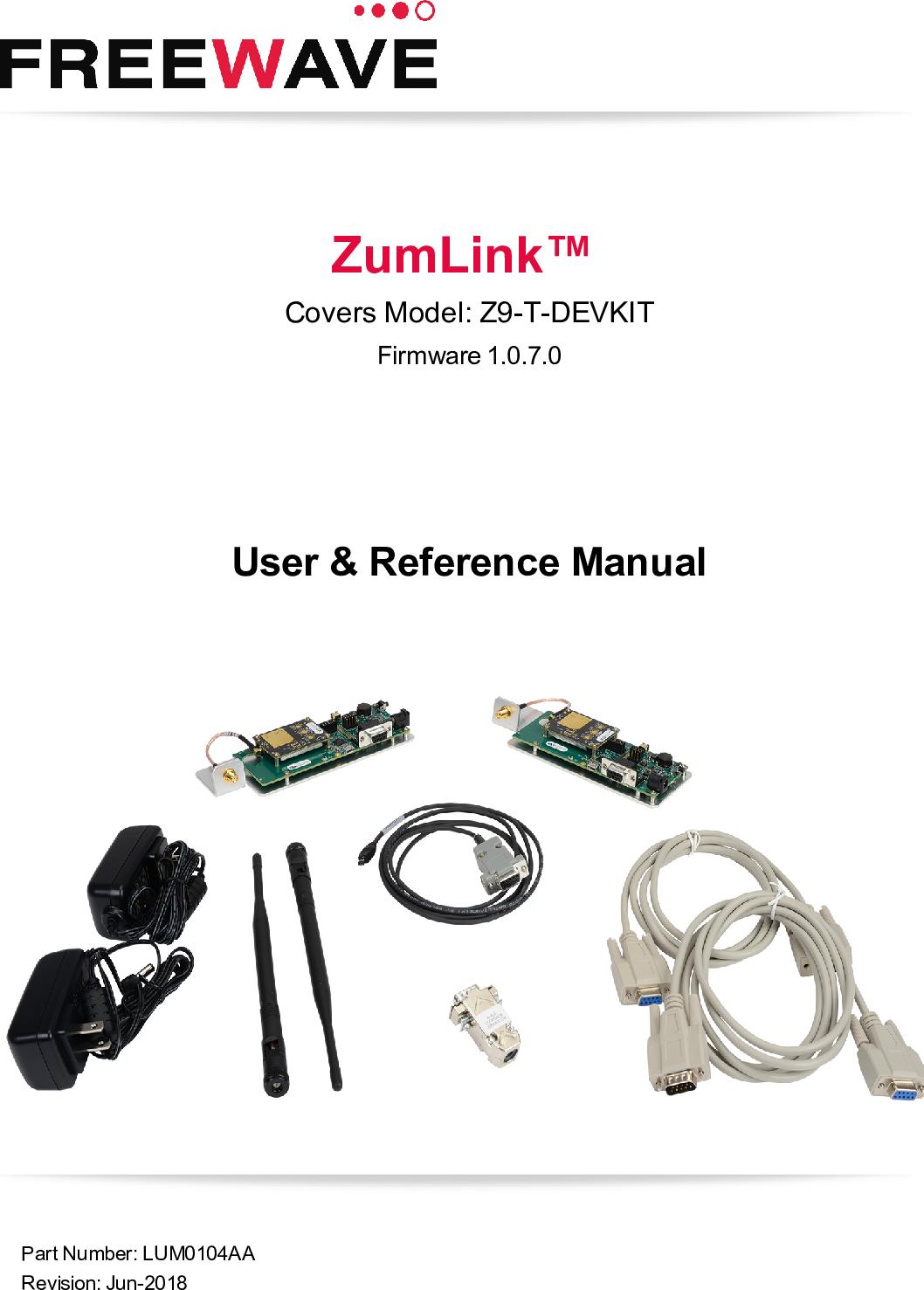 My LUM0104AA Z9 T DEVKIT User Reference Manual Rev Jun 2018