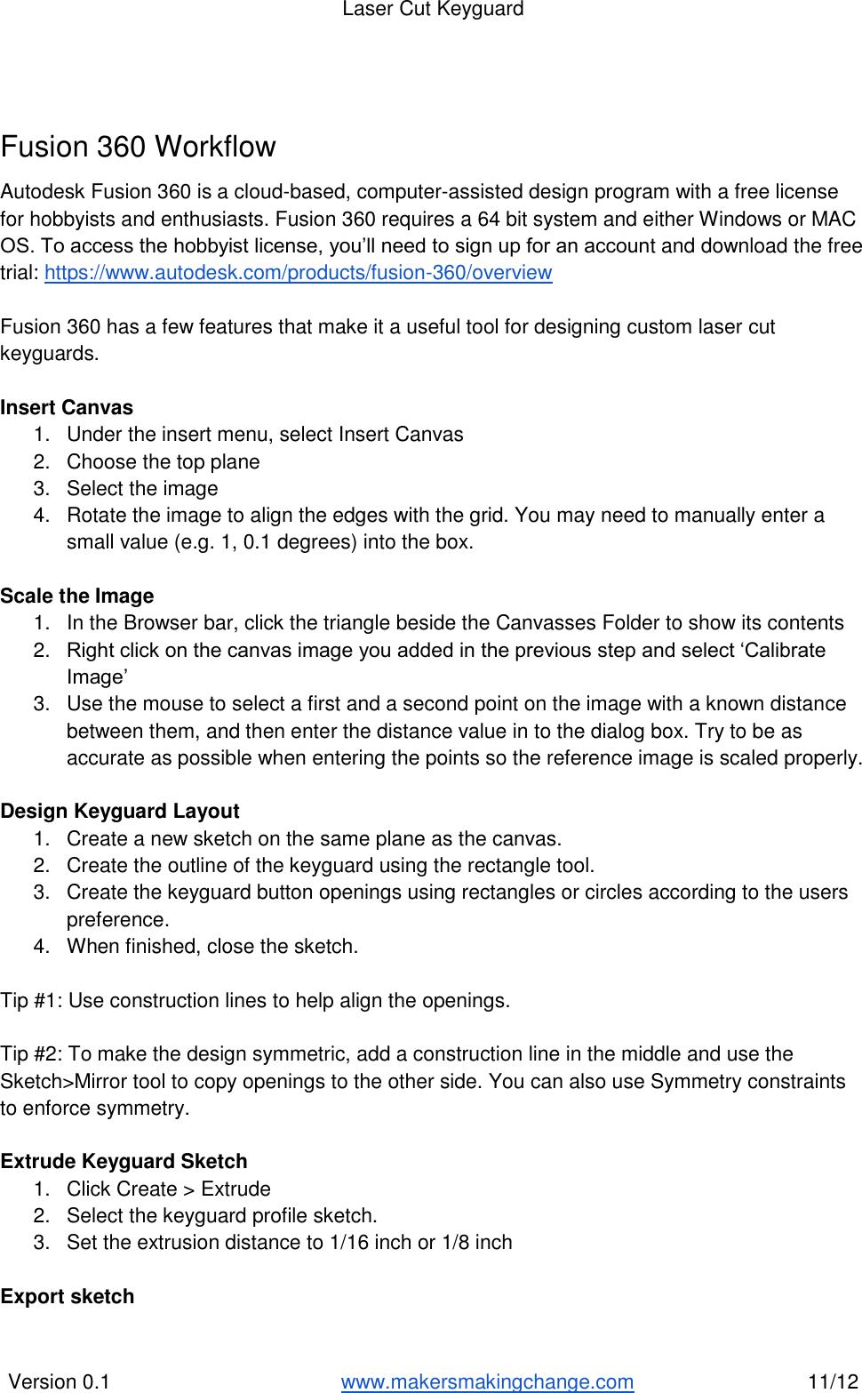 Lasercut Keyguard Instructions V0 1