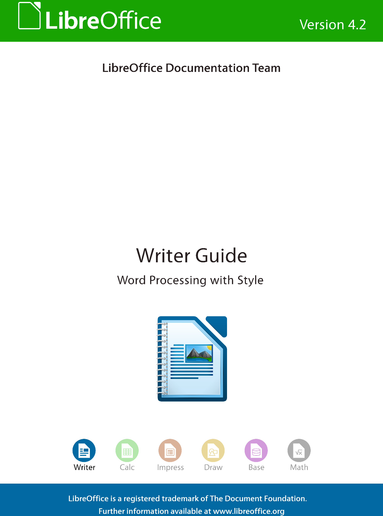 LibreOffice 4 2 Writer Guide Libre Office Version