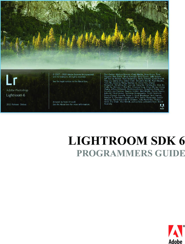 Lightroom SDK Guide