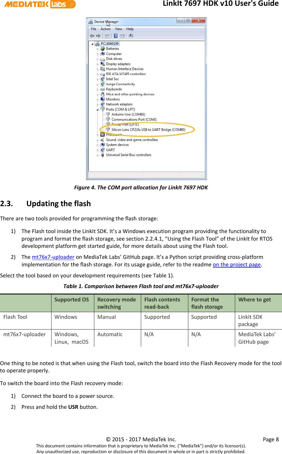 LinkIt 7697 HDK V10 User's Guide Link It Users