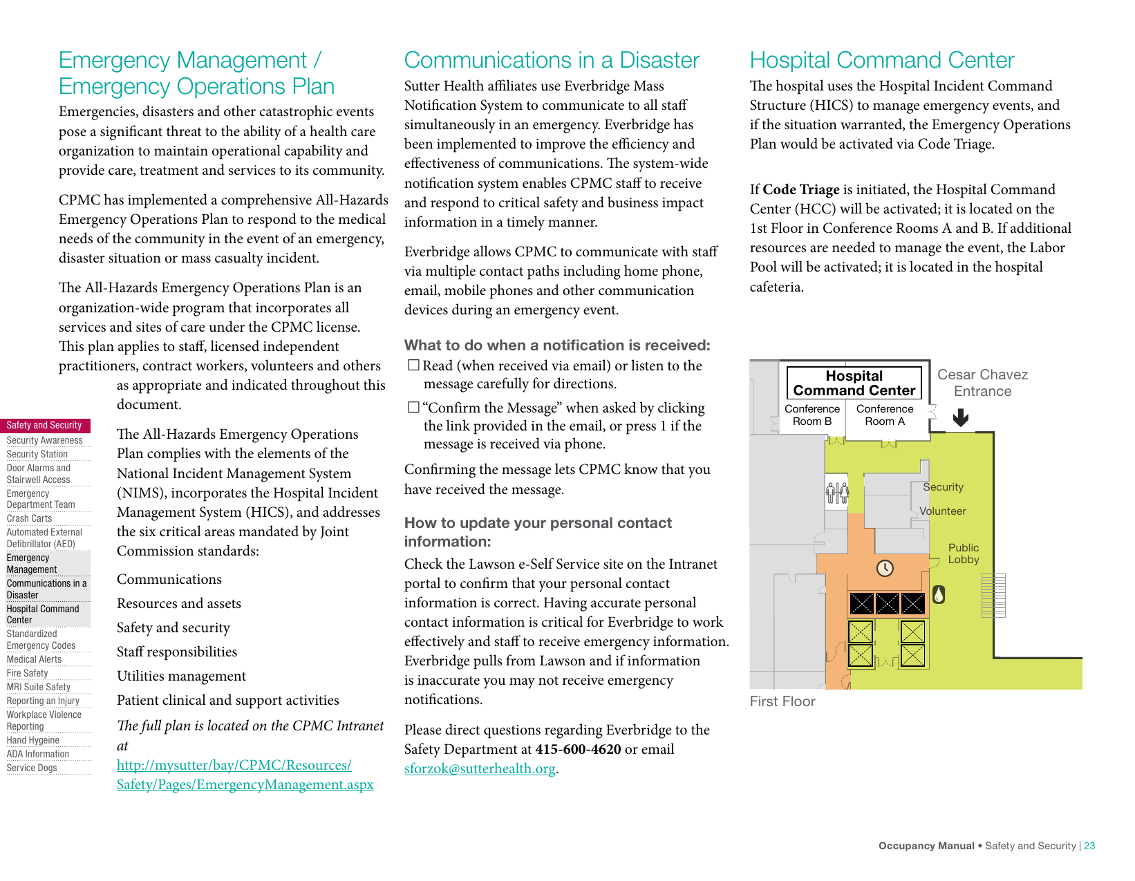 CPMC Occupancy Manual MBC Digital Interactive