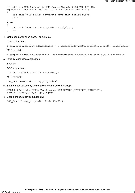 MCUXpresso SDK USB Stack Composite Device User's Guide