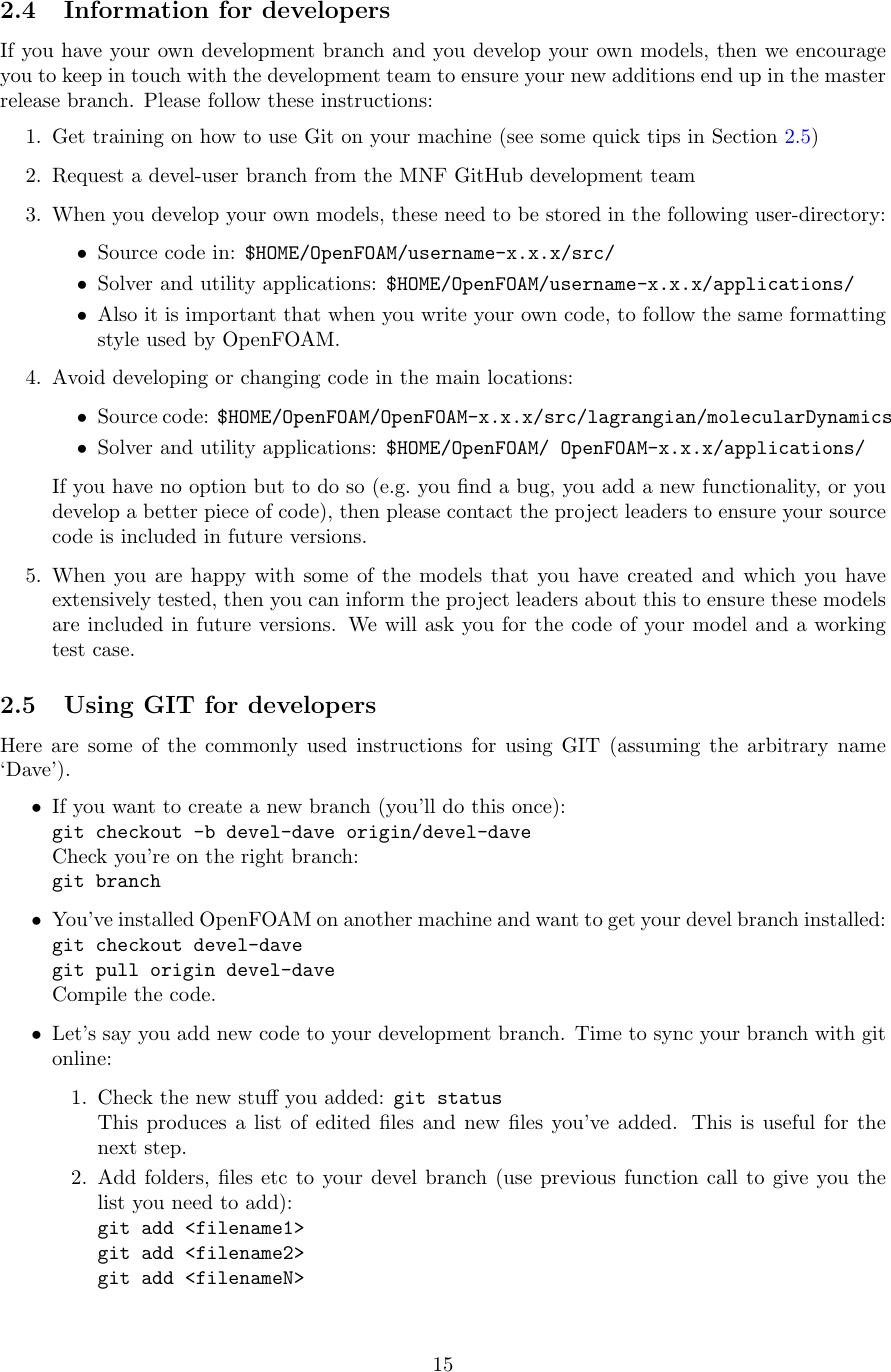 MNF Md Foam+ User Guide