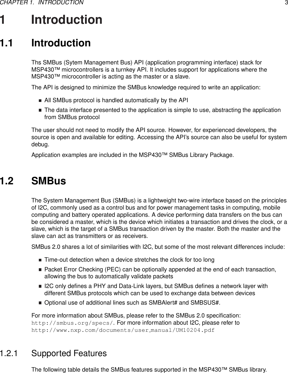SMBus Library For MSP430FR5xx_6xx Devices MSP430 Users Guide