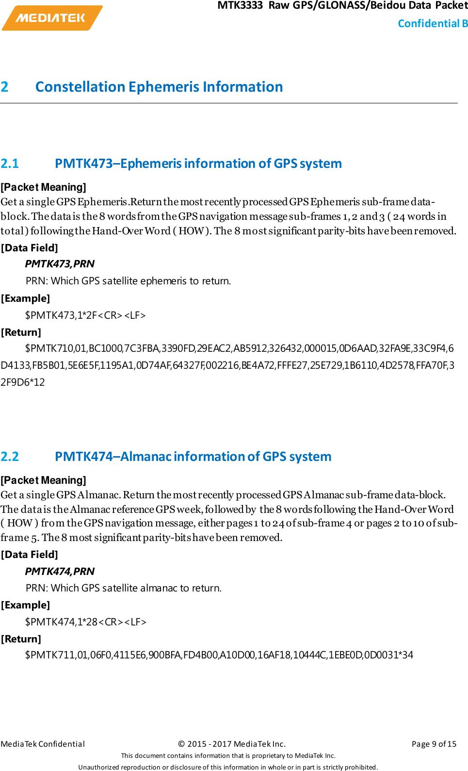 MTK Raw GNSS Data User Manual V10 7