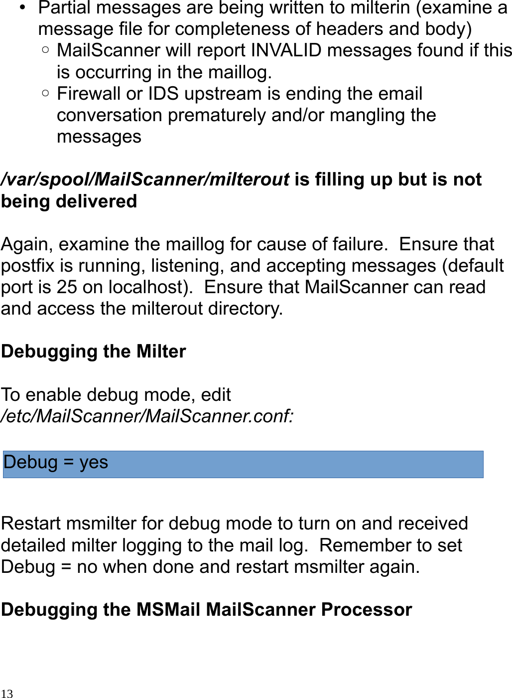 Mail Scanner Milter Guide