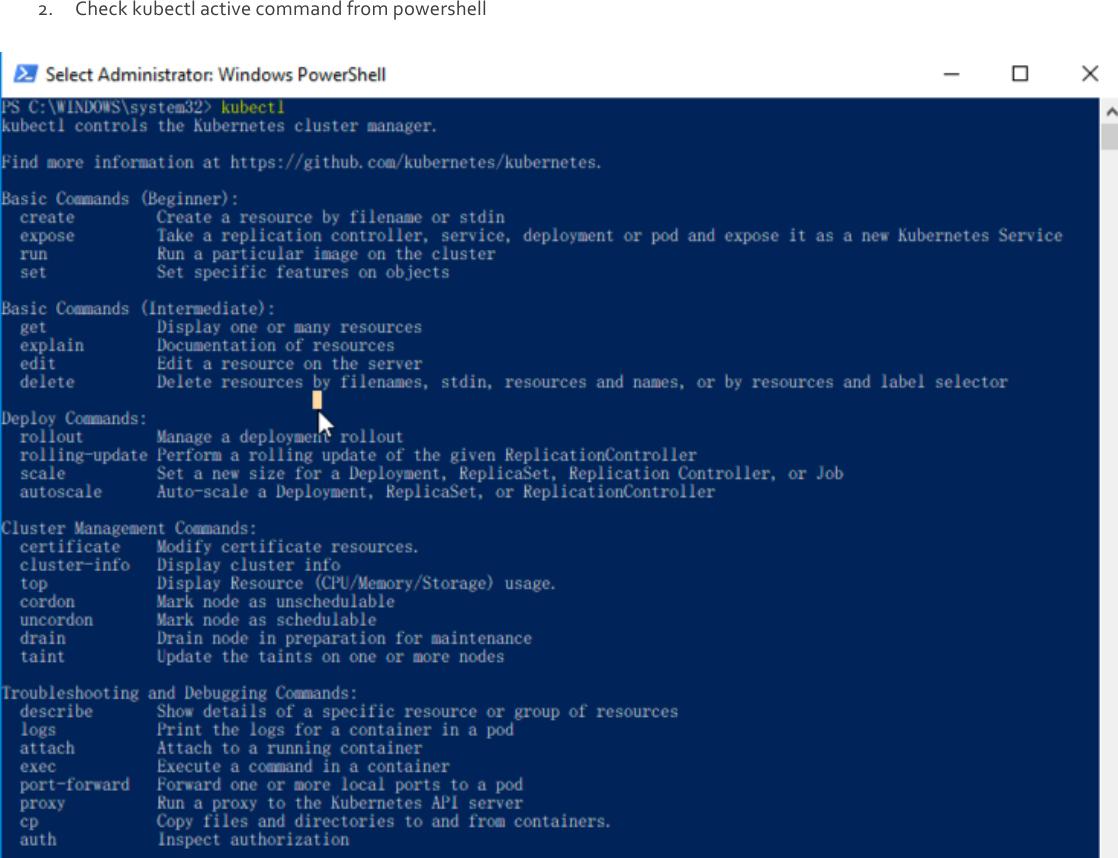 Manual Install Kubunetes Windows