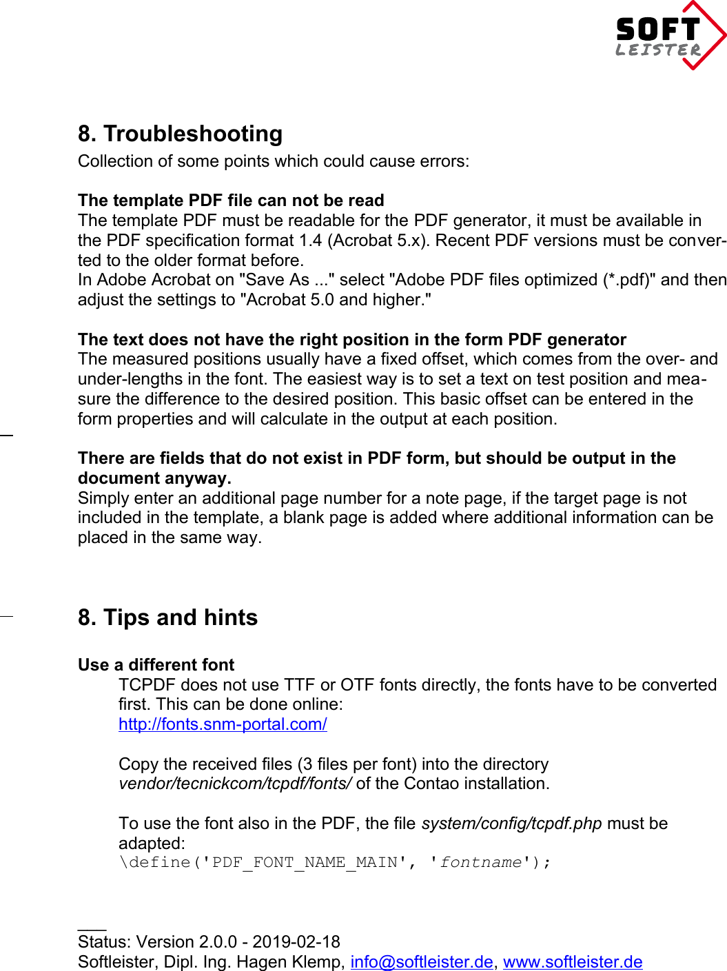 Manual Pdf_forms Contao nc attachment bundle