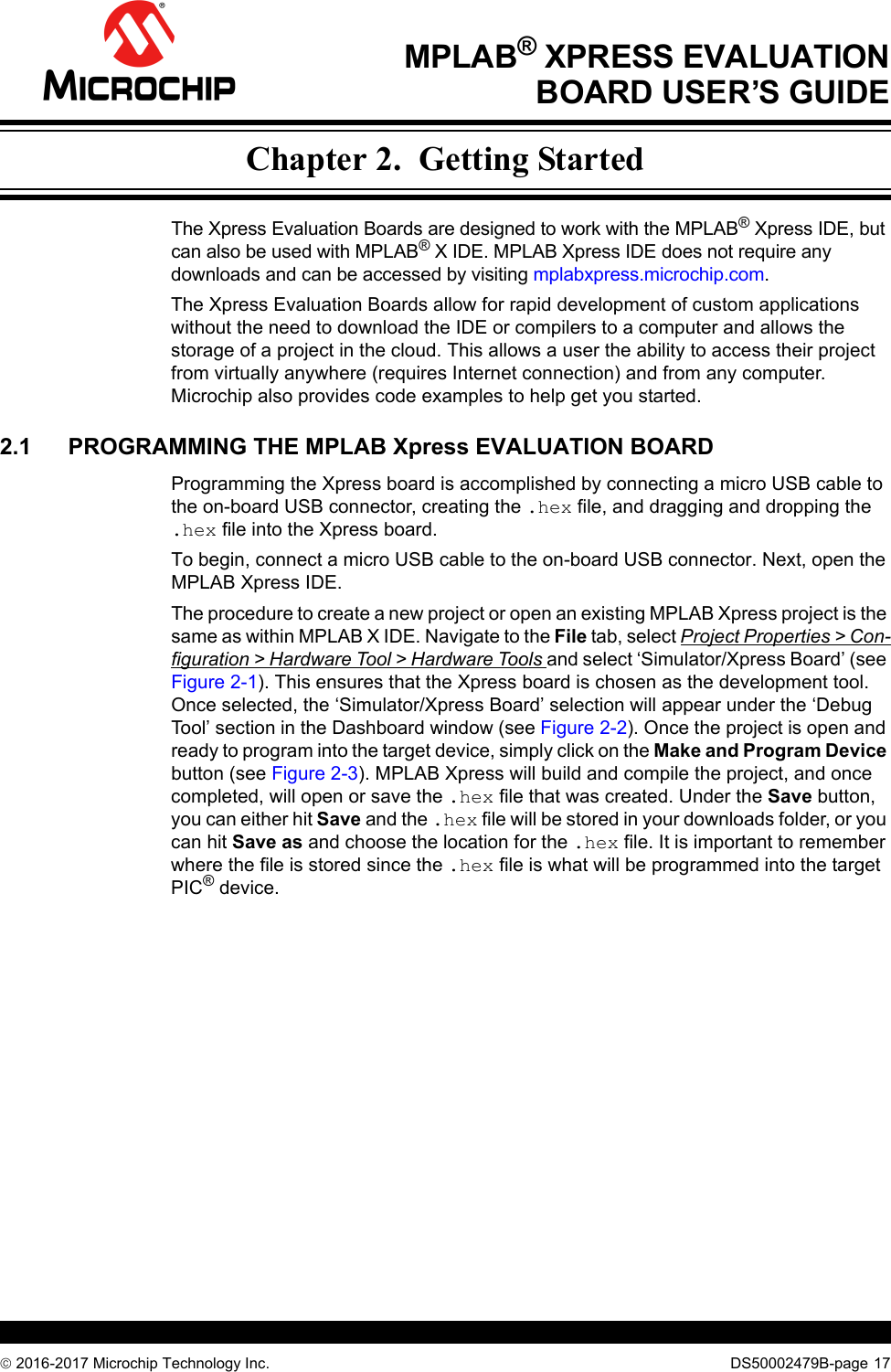 MPLAB Xpress Evaluation_Development Board User's Guide