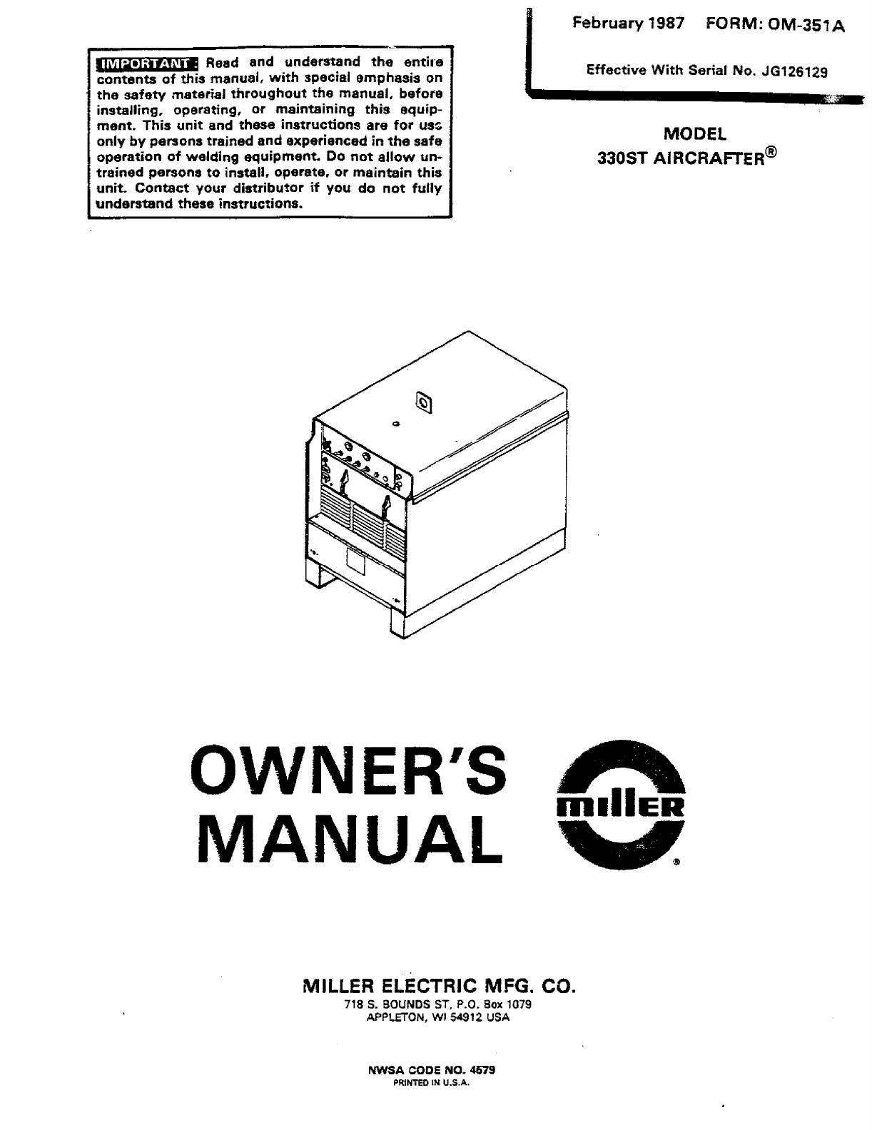 Miller Aircrafter 330ST Manual