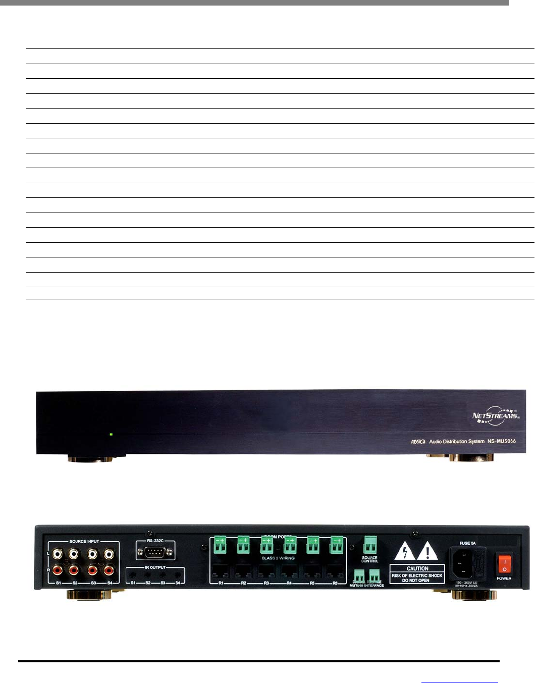 Details about  /NetStreams Musica NS-MU5066KP50 Keypad//Digital Amplifier