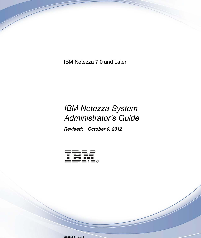IBM Netezza System Administrator's Guide Administrator
